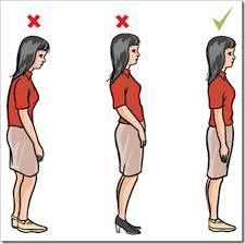 Postura correcta para estar de pie